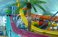 Rainbow Multi Lane Racing Fiberglass Water Slides for Aqua Park Equipment 110m length
