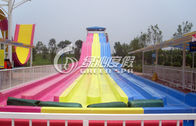 Giant Interactive Racing Fiberglass Water Slides with Multi Lane , Customized